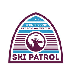 Ski patrol first aid unit label vector