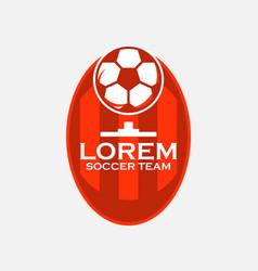 Soccer team logo template design vector