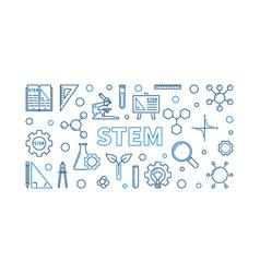 Stem concept outline horizontal vector