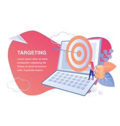 Target marketing smm flat banner template vector