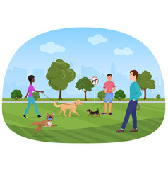 the people walking with vector image