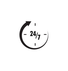time 247 icon design template isolated vector image