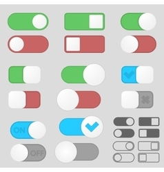 Toggle switch buttons pack vector image