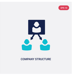 two color company structure icon from human vector image