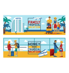 vacation traveling people traveler man vector image