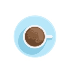 White China Cup With Black Coffee Standing On The vector