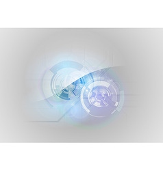 abstract tech blue vector image vector image