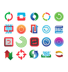 angle 360 degrees web icons shape mark vector image