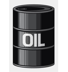 Black oil barrel vector image vector image