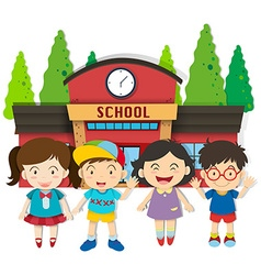 Boys and girls at school vector image vector image