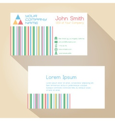 color funky lines white simple business card vector image vector image