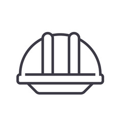 construction helmet line icon sig vector image
