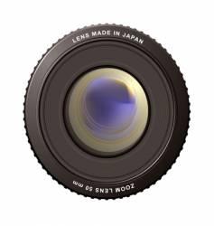 zoom lens vector image