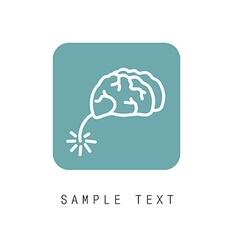 brain flat vector image