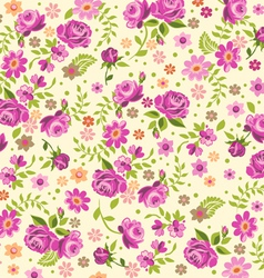 cream rose background vector image vector image