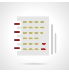 Notebook with article flat color icon vector image