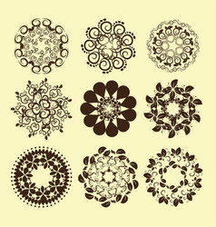 set of vintage design elements9 vector image vector image