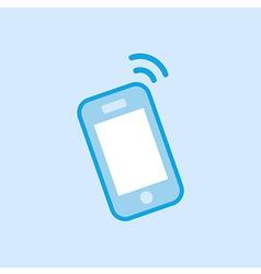 Smartphone Icon Simple Blue vector image vector image