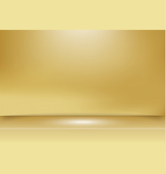 abstract golden gold studio background with vector image