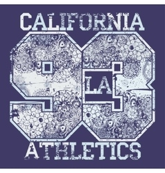 California T-shirt fashion Typography vector image