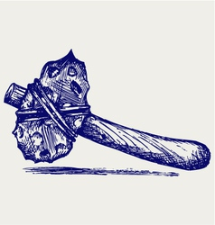 Primitive hammer vector image vector image