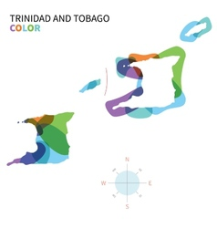 Abstract color map of Trinidad and Tobago vector image vector image