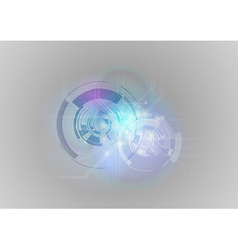 abstract tech blue grey vector image