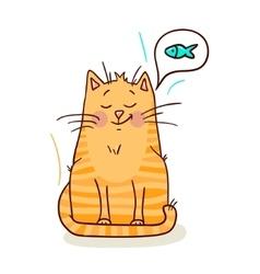 cute red kitten vector image vector image