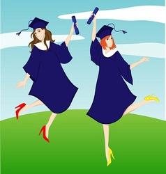 Graduation girl vector