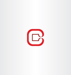 logo letter c logotype c red icon vector image