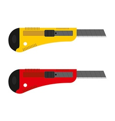 Office knife set Stationery cutter with vector image