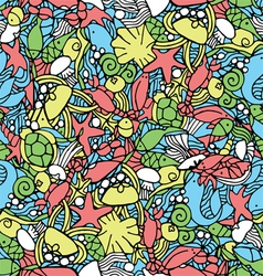 Seamless pattern with an underwater theme vector image