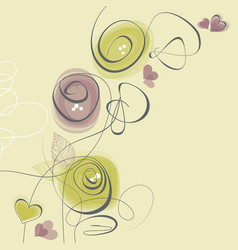 spring flowers love greeting card vector image vector image