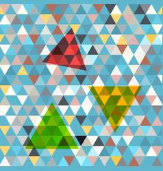 triangles background retro blue triangle backdrop vector image