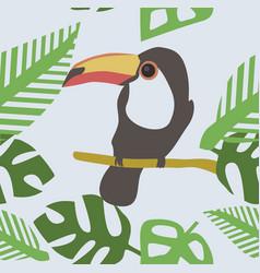 wild toucan seamless pattern vector image
