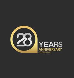 28 years anniversary celebration simple design vector