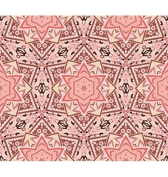 Abstract star mosaic pink pattern vector