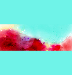Abstract surface colorful splash watercolor vector