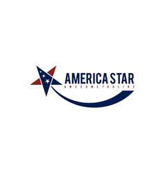 America star template vector