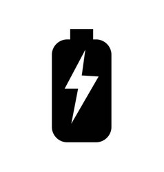 battery with bolt symbol icon icon simple element vector image