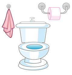 Bowl and toilet paper vector