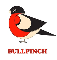 Bullfinch Colorful Geometric Icon vector image