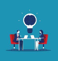 Business team with brainstorming concept business vector