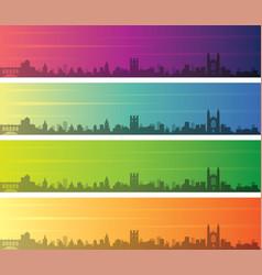 cambridge multiple color gradient skyline banner vector image