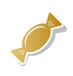 candy sign golden gradient vector image