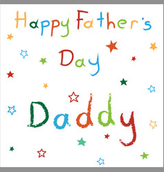 card for happy fathers day vector image