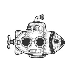 cartoon submarine sketch vector image