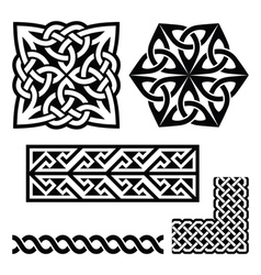 Celtic Irish and Scottish patterns - knots braids vector
