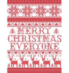 Christmas pattern merry christmas everyone carol vector