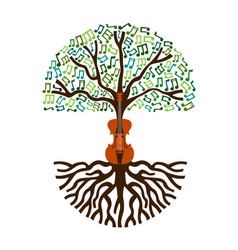 Classical music tree nature concept vector